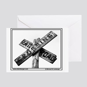RR- Old RR crossign sign mousepad Greeting Card