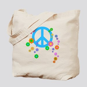 peace08-blk Tote Bag