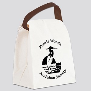 PrairieWoodsAudubonLogo4x4-1 Canvas Lunch Bag