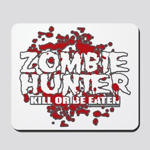 Zombie-Hunter-blk Mousepad