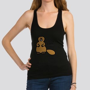 real foodies eat beaver copy Racerback Tank Top