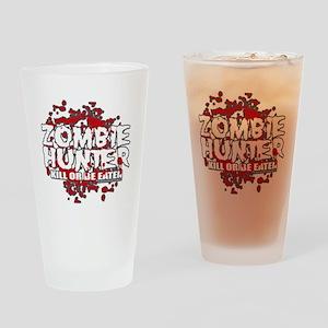 Zombie-Hunter-blk Drinking Glass