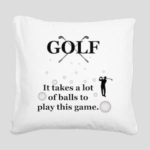 golf Square Canvas Pillow