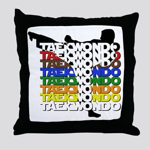 ColorsOfTKD Throw Pillow