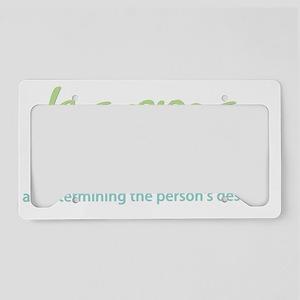 karma-blk-bg License Plate Holder