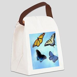 Butterfly Assortment Keepsake Box Canvas Lunch Bag