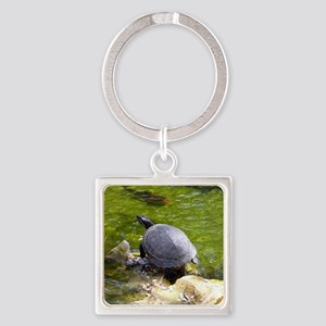 turtle note card Square Keychain
