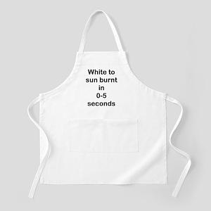 sunburnt in secsblack Apron