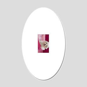 pink pup ipad 20x12 Oval Wall Decal
