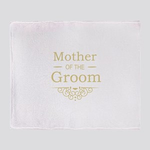 Mother of the Groom gold Throw Blanket