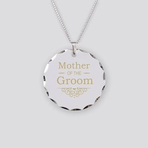 Mother of the Groom gold Necklace Circle Charm