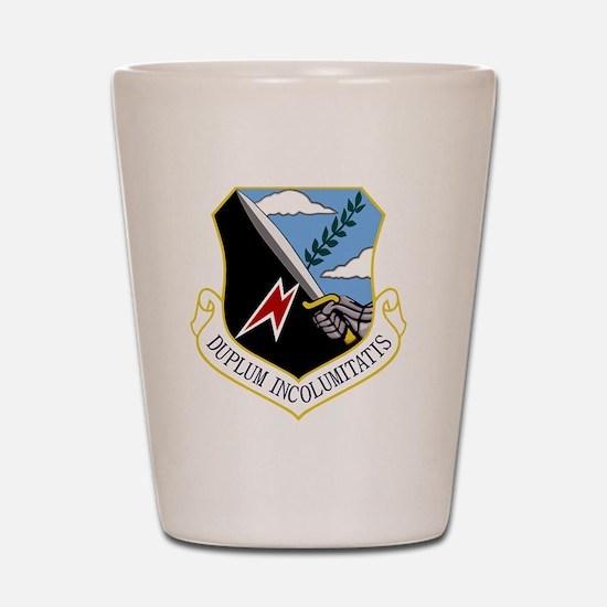 92nd Bomb Wing - Duplum Incolumitatis Shot Glass