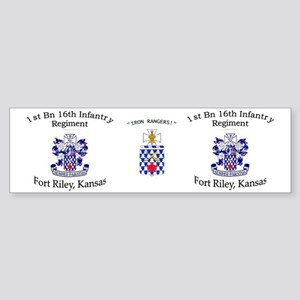 1st Bn 16th Inf mug Sticker (Bumper)