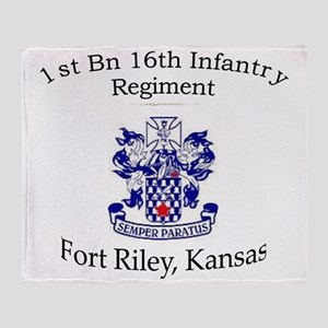 1st Bn 16th Inf Throw Blanket