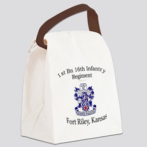 1st Bn 16th Inf Canvas Lunch Bag