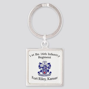 1st Bn 16th Inf Square Keychain