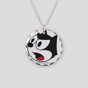 face2 Necklace Circle Charm