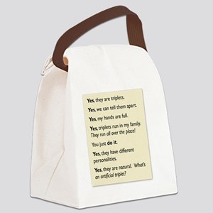 triplet tee 2010 copy Canvas Lunch Bag