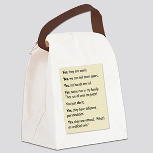 twin tee 2010 copy Canvas Lunch Bag