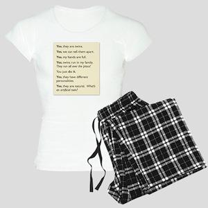 twin tee 2010 copy Women's Light Pajamas