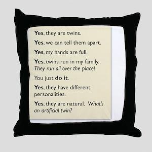 twin tee 2010 copy Throw Pillow