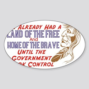 land of the free Sticker (Oval)