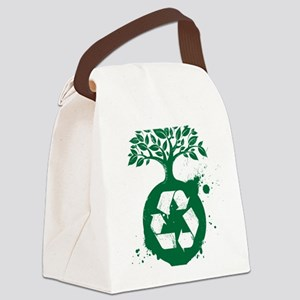 green recycle Canvas Lunch Bag