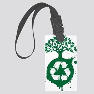 green recycle Large Luggage Tag
