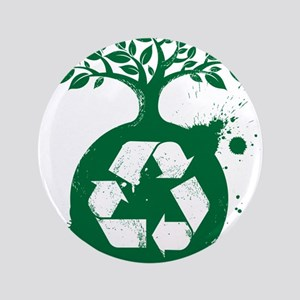 """green recycle 3.5"""" Button"""