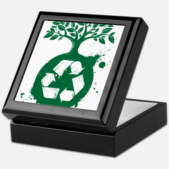 green recycle Keepsake Box