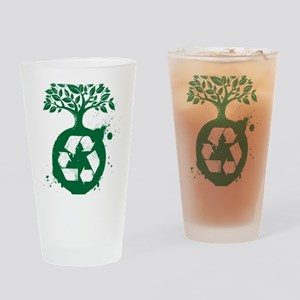green recycle Drinking Glass