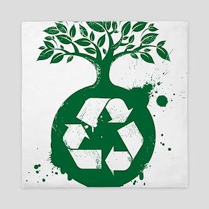 Green Recycle Queen Duvet