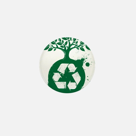 green recycle Mini Button