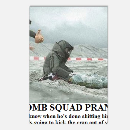 BOMB SQUAD PRANK1 Postcards (Package of 8)