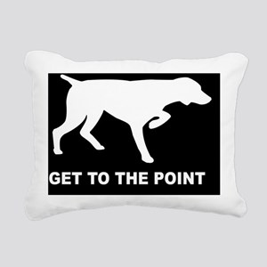 GET TO THE POINT POSTER Rectangular Canvas Pillow
