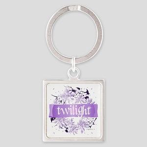 twilight wreath purple copy Square Keychain