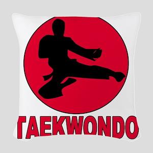 taekwondo Woven Throw Pillow