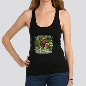 Merry Christmas Bloodhound Racerback Tank Top