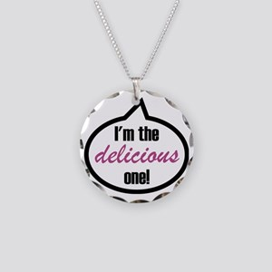 Im_the_delicious Necklace Circle Charm