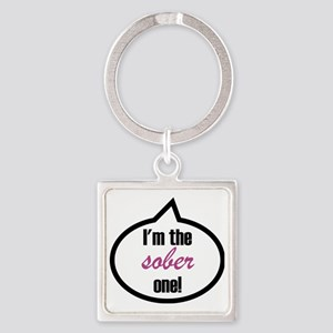 Im_the_sober Square Keychain