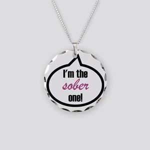 Im_the_sober Necklace Circle Charm