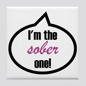 Im_the_sober Tile Coaster