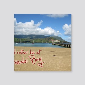"CalendarHanaleiBay Square Sticker 3"" x 3"""