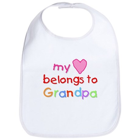 My Heart Belongs to Grandpa (A) Bib