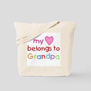 My Heart Belongs to Grandpa (A) Tote Bag