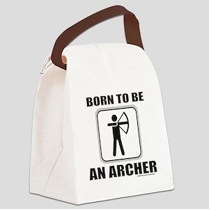 BornToShootArrows1 Canvas Lunch Bag