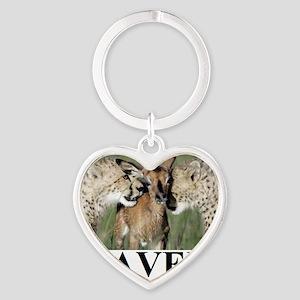 BRAVERY1 Heart Keychain