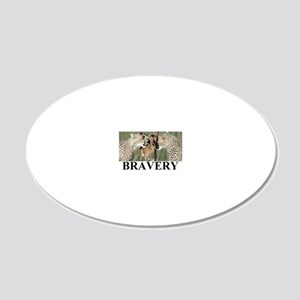 BRAVERY1 20x12 Oval Wall Decal
