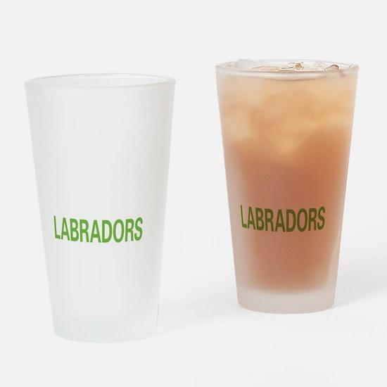 livelabrador2 Drinking Glass