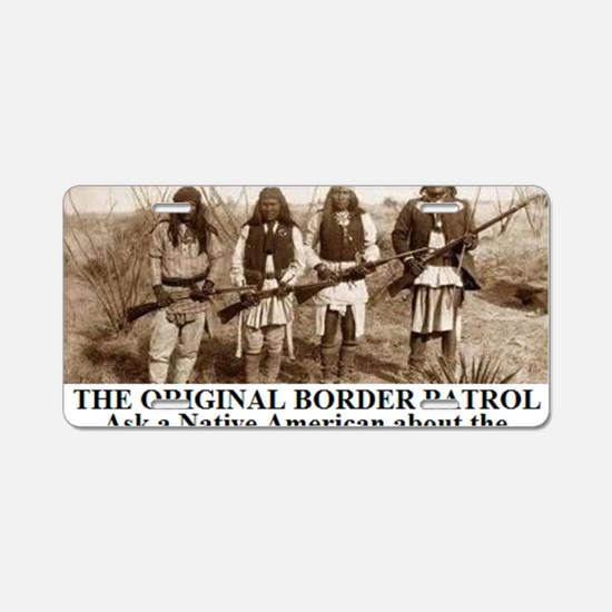 THE ORIGINAL BORDER PATROL1 Aluminum License Plate